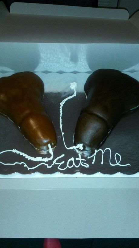Adult themed penis cake