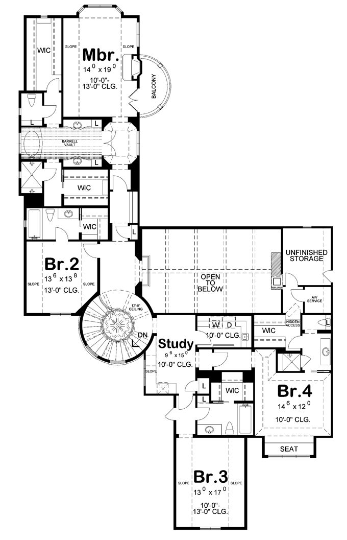 Game room and balcony plan house plans pinterest
