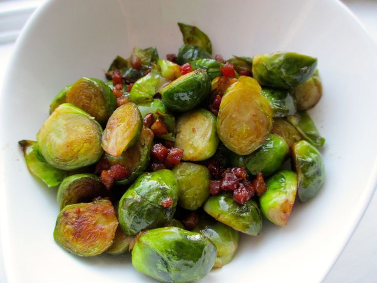 Balsamic Braised Brussels With Pancetta Recipe — Dishmaps