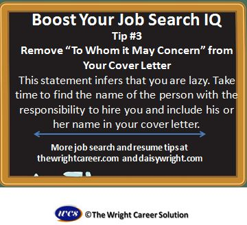 Remove To Whom It May Concern From Your Cover Letter