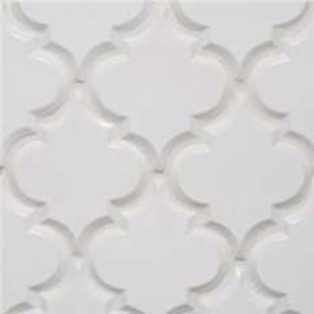 Beveled arabesque tile for bathroom home helps pinterest for Beveled arabesque tile backsplash