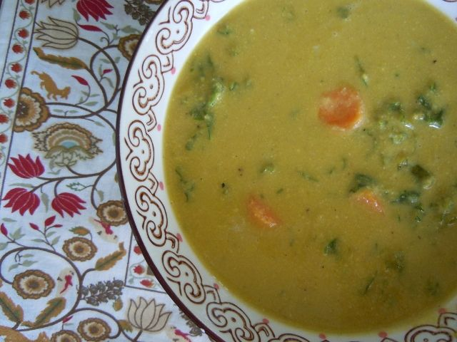 Golden Austrian Cauliflower Cream Soup. You will need carrot juice for ...