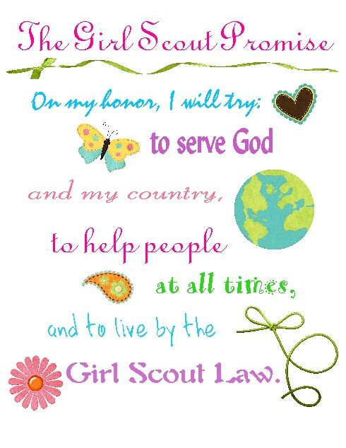 Girl Scout Promise | Girl Scout Clip Art - Brownie | Pinterest: www.pinterest.com/pin/393642823650919340