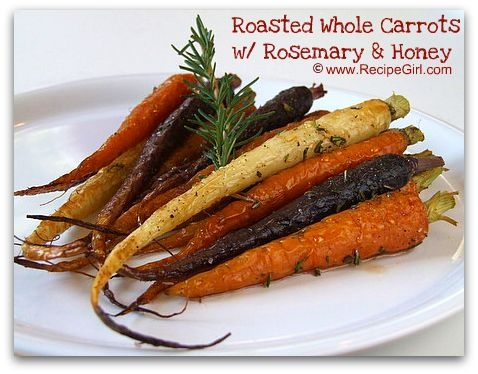 Roasted Whole Carrots with Rosemary and Honey | Recipe
