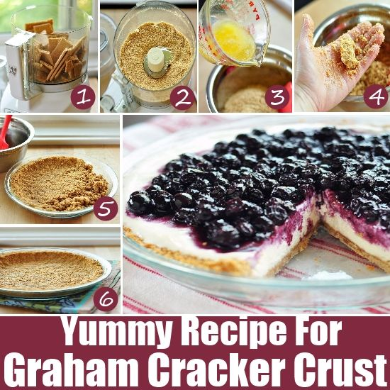 How To Make A Graham Cracker Crust | DIY Recipes | Pinterest