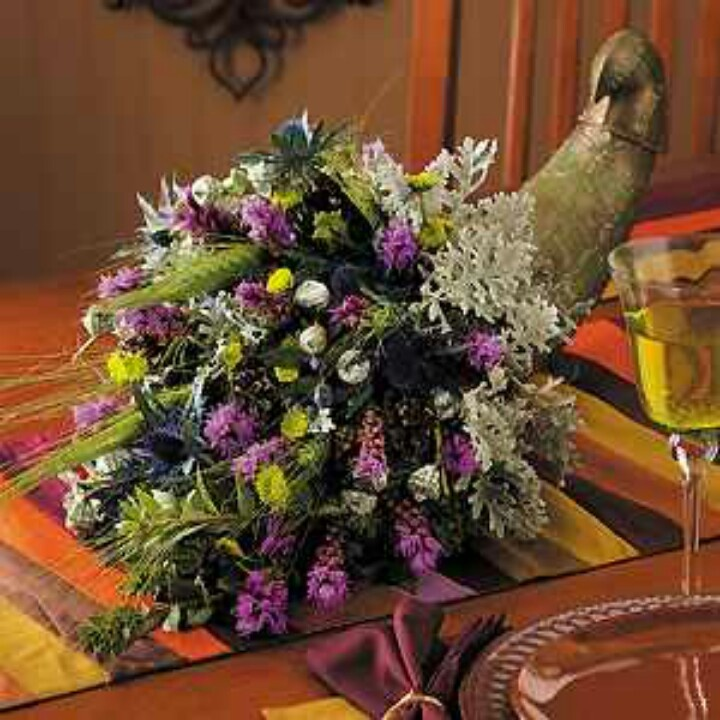 Cornucopia Centerpiece Uniquely Made Pinterest