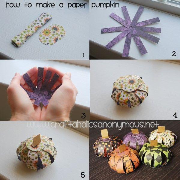 Paper pumkins, how cute!