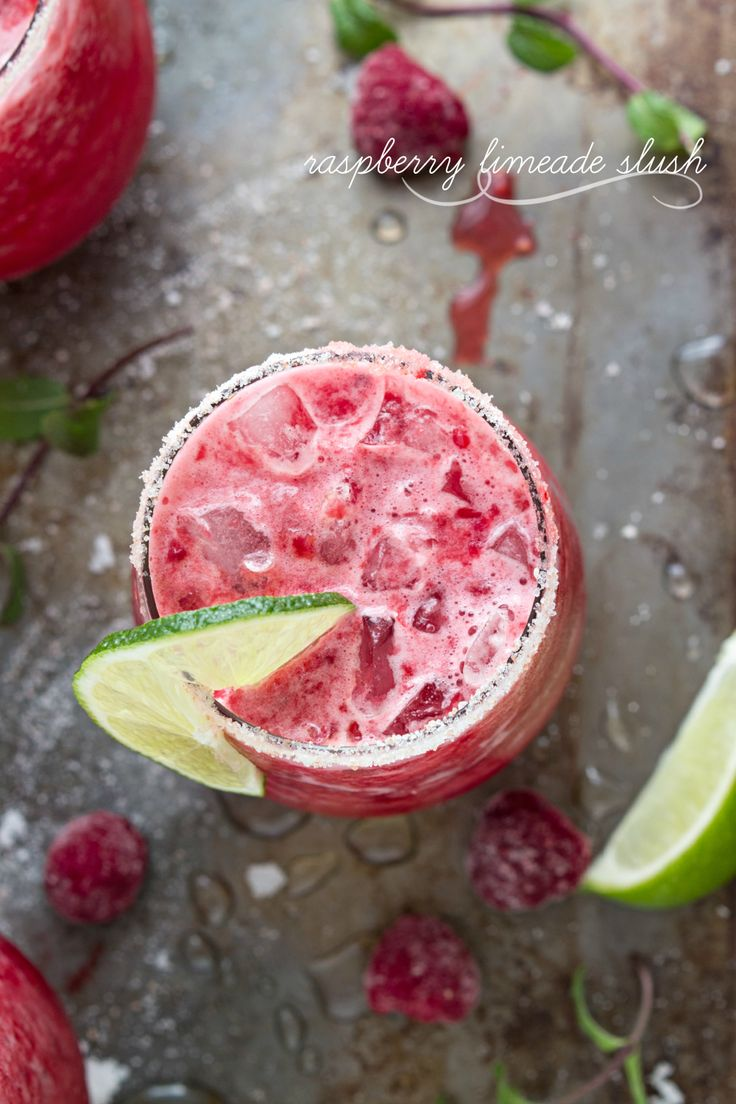 Raspberry Limeade Slush | Recipe