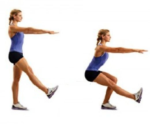 One legged squats | Body weight exercis | Pinterest