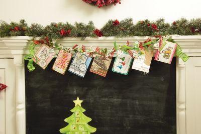 Christmas Card Ribbon Garland