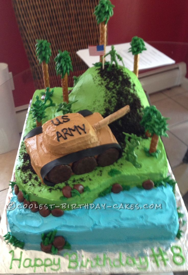 Coolest Army Tank 8th Birthday Cake... a creative military themed ...