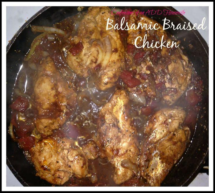 Balsamic Braised Chicken | yummy | Pinterest