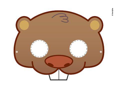Printable Activity Cute Beaver Mask
