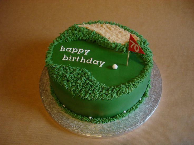 golf birthday cake.  Cake ideas boys, men would like  Pinterest