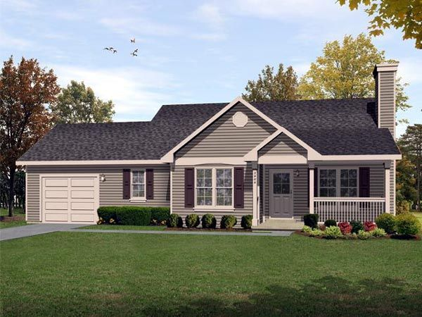 Ranch traditional house plan 45104 for Traditional ranch house