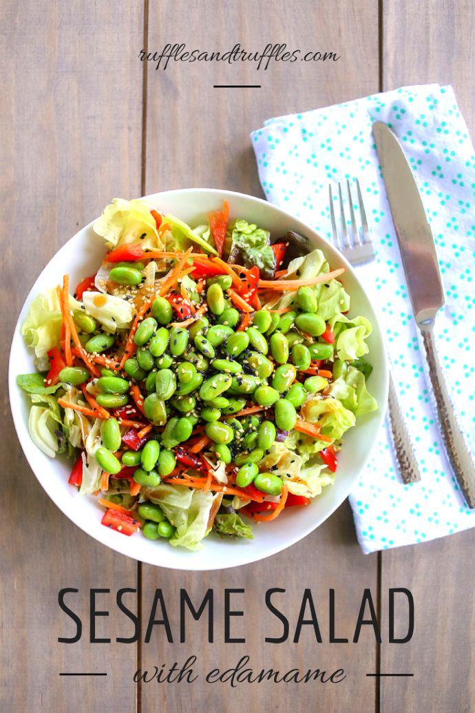 sesame salad with edamame
