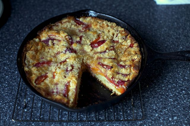 nectarine brown butter buckle by smitten kitchen. Made this so many ...