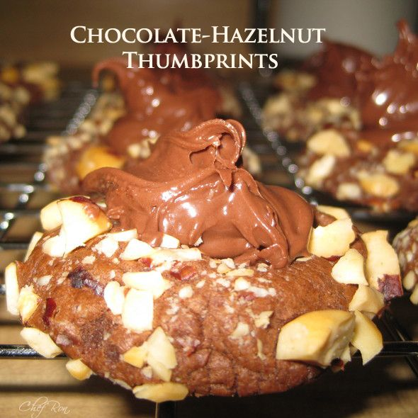 Chocolate Hazelnut Thumbprint Cookies | Recipes -- Cookies | Pinterest