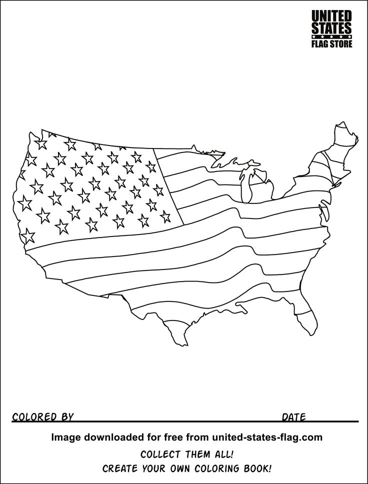 u s flag coloring pages - photo #9