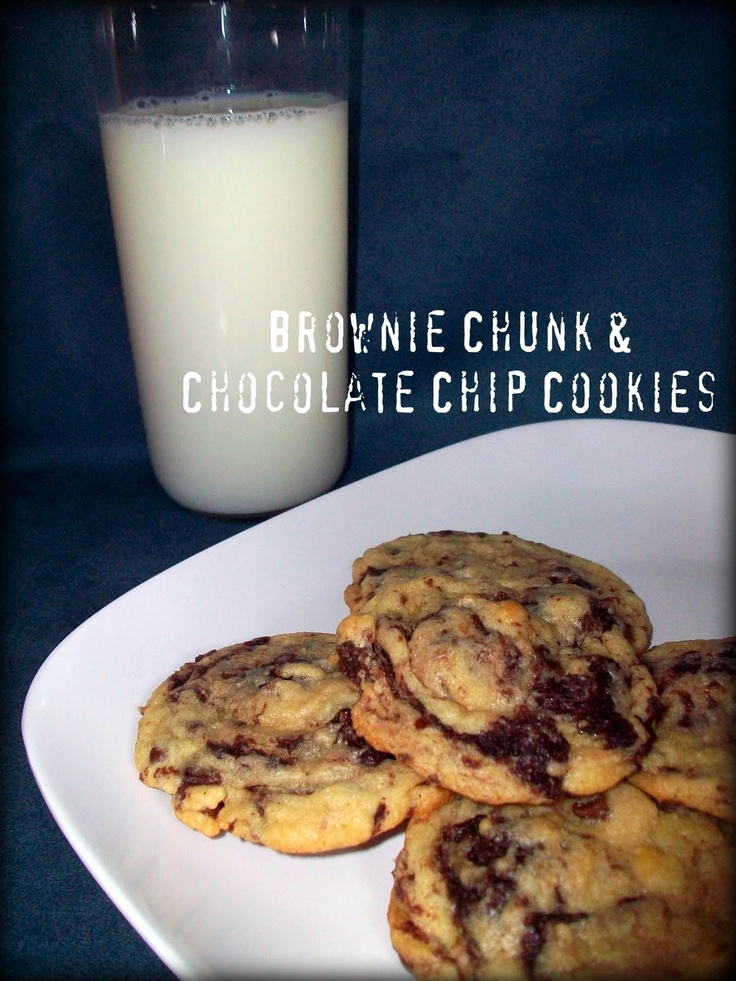 Brownie Chunk & Chocolate Chip Cookies @ Double the Deliciousness