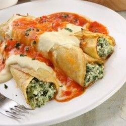 Manicotti Crepes | Breakfast for kids | Pinterest