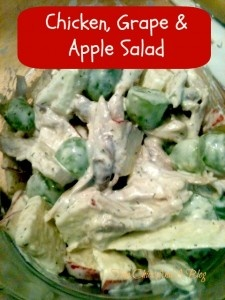 Chicken, Grape, and Apple Salad | SALADS | Pinterest