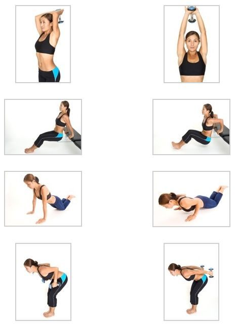 Лучшее упражнение на трицепс в домашних условиях 408