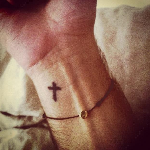 Simple little cross tattoo wish list pinterest for Little cross tattoo