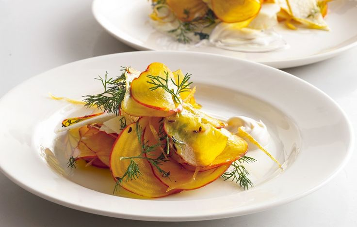 Golden Beet and Jicama Salad with Crème Fraîche - Bon Appétit