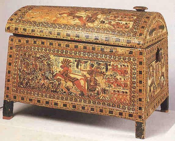 Painted box from tomb of King Tut