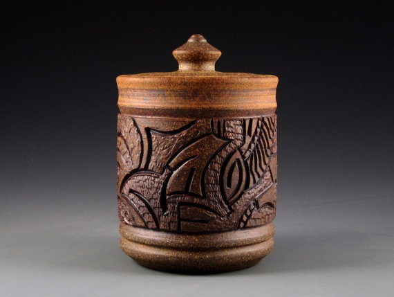 Carved clay pottery throw carve kiln weave pinterest