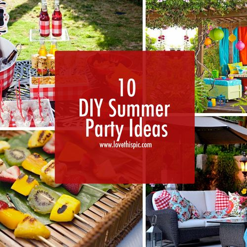 10 diy summer party ideas party and birthday ideas pinterest