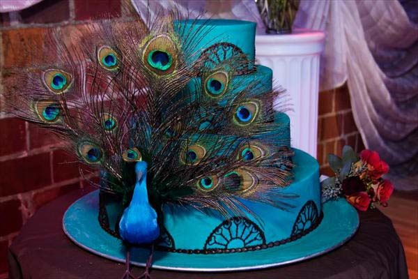 peacock wedding cakes Glamorous Peacock Wedding Cakes Idea for YouQuinceanera Peacock Cake