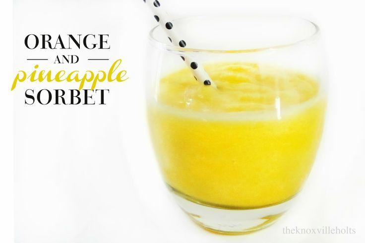 Pineapple Orange Sorbet Recipe — Dishmaps