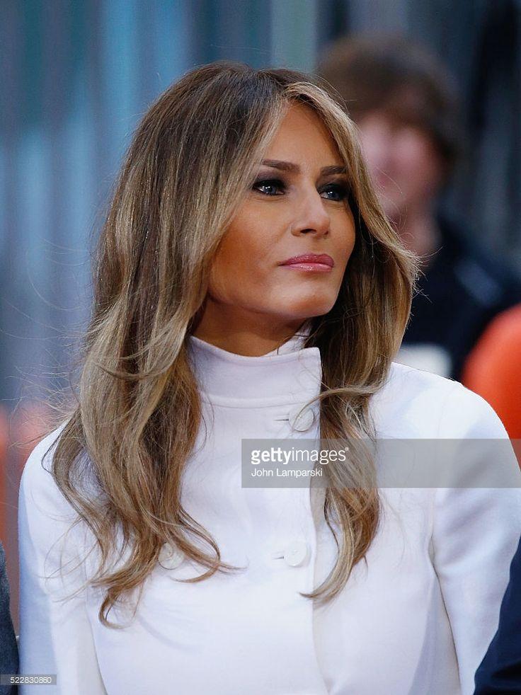 Окрашивание волос как у мелании трамп