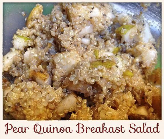 Pear Quinoa Breakfast Salad | Breakfast | Pinterest