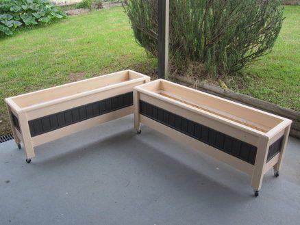 mobile patio planter pots