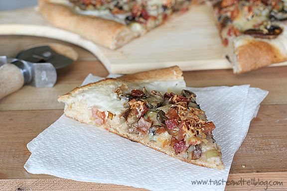 Leek, Mushroom and Bacon Pizza | 'Za & Tarts | Pinterest
