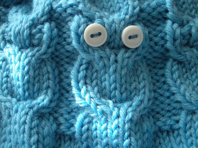 owl cable stitch DIY(Do it yourself) Pinterest