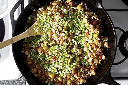 bacon corn hash - although I don't eat bacon, this is a crowd pleaser ...