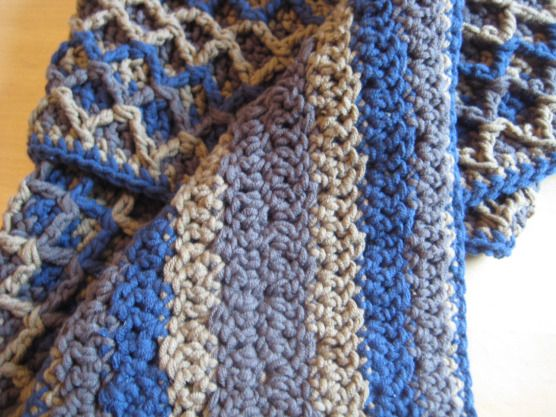 Crochet Scarf Patterns Zigzag : Zigzag scarf reverse pattern Crochet Pinterest