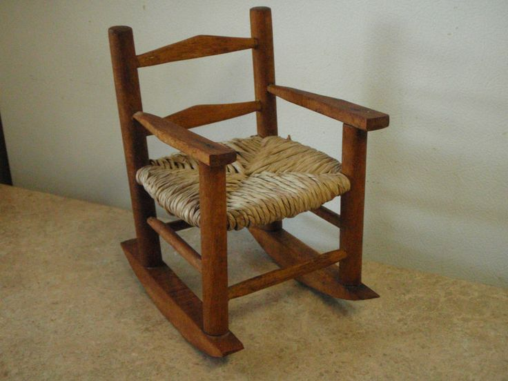 Doll Rocking Chair Miniature Wooden Boyds Bear 8 Tall W