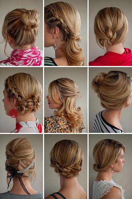 "Hair ideas w/ links ""how to's"""