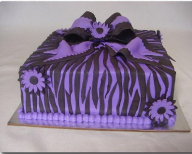 Purple Zebra Cake Design : Purple zebra cake Zebra Cakes Pinterest