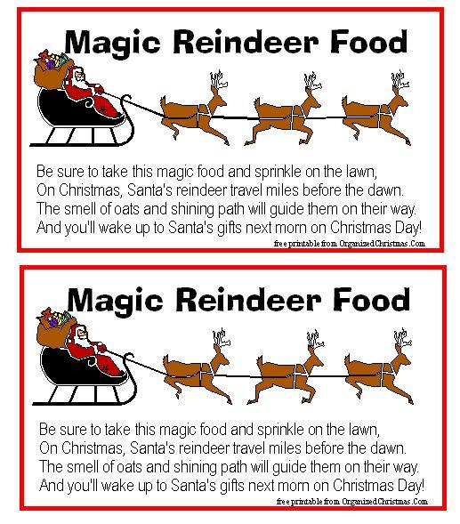 shari313's media Magic Reindeer Food | I saw Mommy Kissin Santa Clau ...