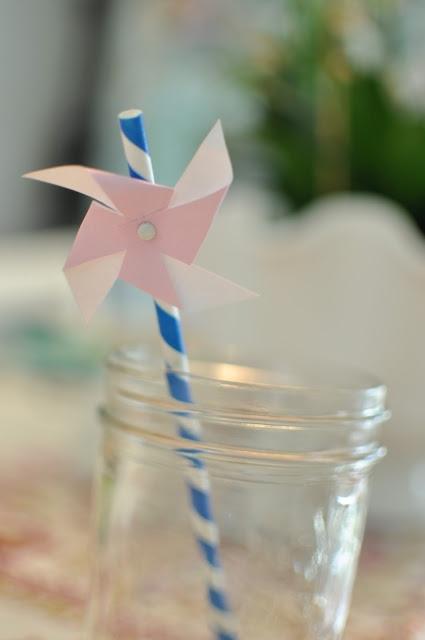 Pinwheel paper straws  #popotes #decoracion #fiesta #straw #party #etcmx #azul #rehilete