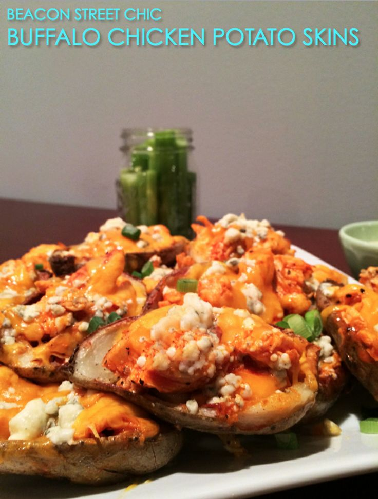 delicious and easy to make buffalo chicken potato skins] the perfect ...