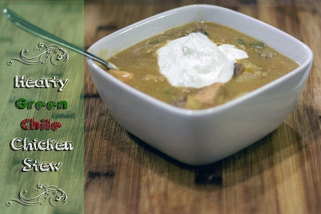 Hearty green chile chicken stew | Green Chile | Pinterest