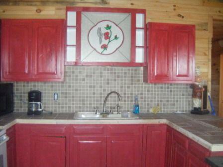 Backsplash log cabin pinterest for Log cabin kitchen backsplash ideas