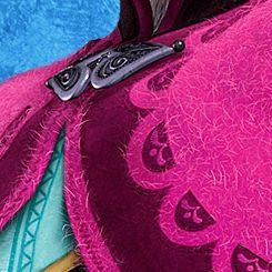 Anna's winter cloak details